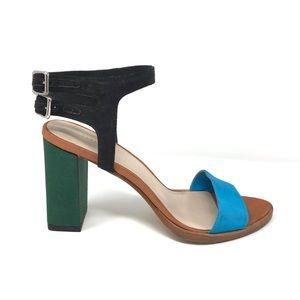 Loeffler Randall Sz 6 Sylvia Colorblock Sandals